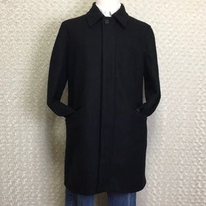 Banana Republic Wool Black Overcoat Sz L